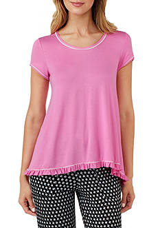 Layla Short Sleeve Ruffle Sleep Tee