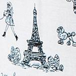 Womens Pajama Pants: Ivory/Print Layla Ruffle Hem Pajama Pants