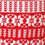 Red Pajamas for Women: Red Print Layla Micro Critter Pajama Set