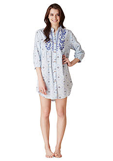 Lucky Brand Button Down Sleepshirt