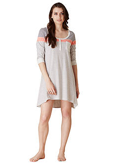 Lucky Brand Stripe Elbow Sleeve Sleepshirt