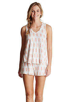 Lucky Brand Shorty Knit Pajama Set
