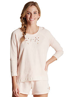 Lucky Brand French Terry Crew Neckline Top