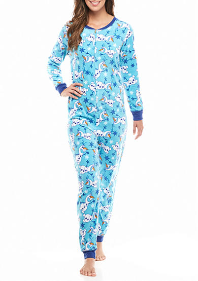 Briefly Stated Printed Olaf One-Piece Pajama