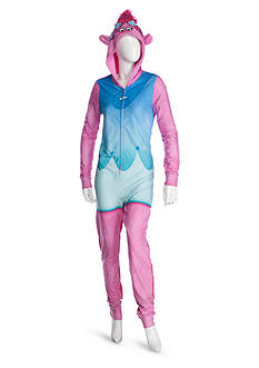 Briefly Stated Hooded Trolls One-Piece Pajama