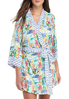 Echo Printed Kimono Robe
