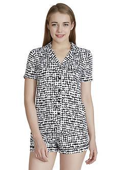 Echo Printed Woven Shortie Pajama Set