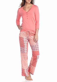 Echo Three Quarter Sleeve Pajama Set