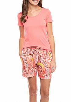 Echo Short Sleeve Short Pajama Set