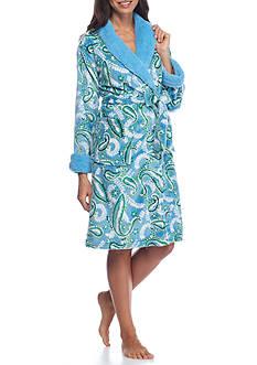 Echo Paisley Micro Sherpa Robe