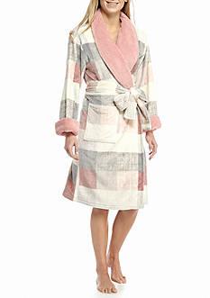 Echo Plaid Micro Sherpa Robe