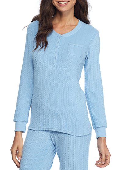 Echo® Cable Knit Henley Pajama Top