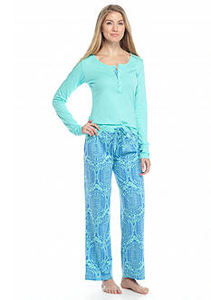 Echo Long Sleeve Henley Pajama Set