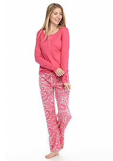 Echo Long Sleeve Henley Pajama Set