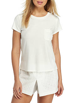 kate spade new york® Interlock Eyelet Skort Pajama Set