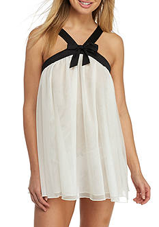kate spade new york® Point D'esprit and Satin Bow Babydoll