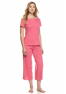 kate spade new york® Pink Dot Bow Pajama Set