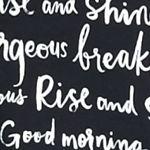 Women: Kate Spade New York Sleep, Lounge & Robes: Black / White Script kate spade new york Eye Mask And Sleepshirt Set
