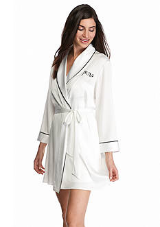 kate spade new york Mrs. Charmeuse Wrap Robe