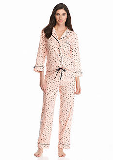 kate spade new york® Notch Collar Dot Pajama Set