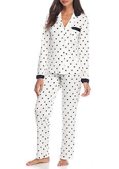 kate spade new york® Heart Print Pajama Set