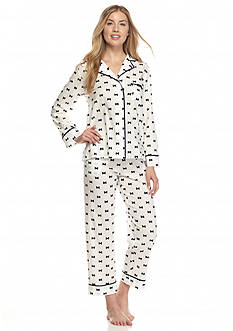 kate spade new york® Bow Notch Collar Capri Pajama Set