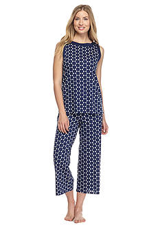 kate spade new york® Sleeveless Crop Tank Pajama Set