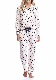 kate spade new york Long Flannel Pajama Set