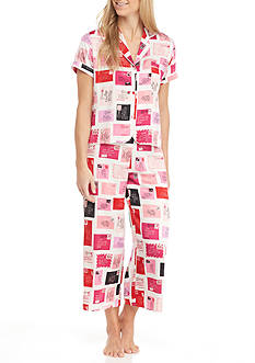 kate spade new york Short Sleeve Charmuese Pajama Set