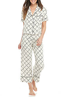 kate spade new york® 2-Piece Cropped Pajama Set