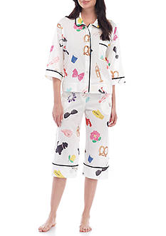 kate spade new york® Elbow Sleeve Capri Pajama Set - 5091350