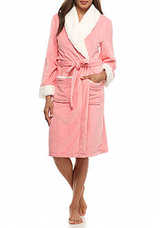 New Directions® Intimates Royal Plush Sherpa Collar Robe