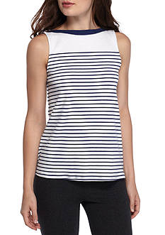 Nautica Sleeveless Stripe Tee