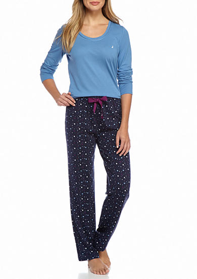 Nautica Printed Knit Pajama Set