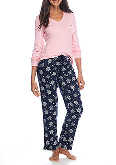 Nautica Folded Flannel Pajama Set