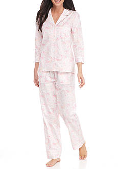 Nautica Three Quarter Sleeve Pajama Set