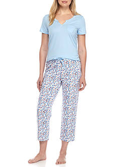 Nautica Short Sleeve Triangle Printed Pant Set - 2091353
