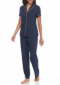 Nautica Short Sleeve Dot Pajama Set
