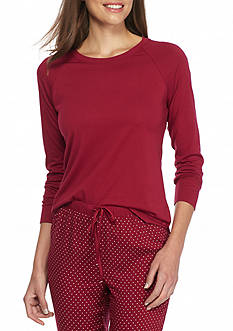 Nautica Long Sleeve Cotton Modal Top