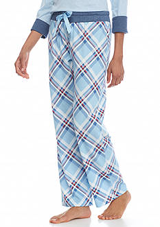Nautica Brush Jersey Diagonal Plaid Pants