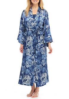 Jones New York Long Satin Robe