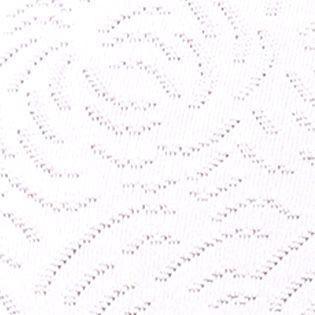 Purple Plus Size Panties: Damask White Bali Microfiber Hi-Cut Brief