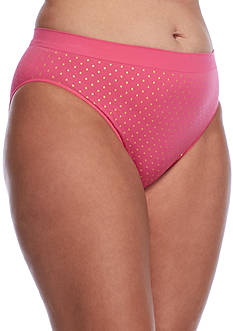 New Directions® Plus Size Seamless Hi-Cut Brief - 12P18X