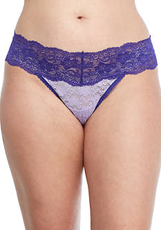 New Directions Plus Size Lace Thong - 16J33X