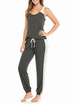 PJ Couture Crochet Trim Tank Pajama Set