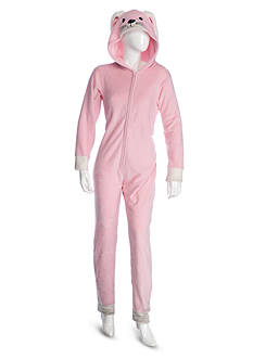 PJ Couture Hooded Pink Bunny One-Piece Pajama