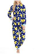PJ Couture Navy Blue Duck One - Piece Pajama