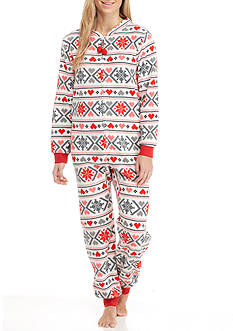 Age Group Black Red Fairisle One-Piece Pajama