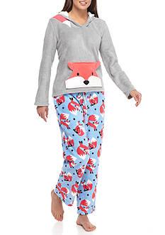 Age Group Fox Hood Plush Pajama Set