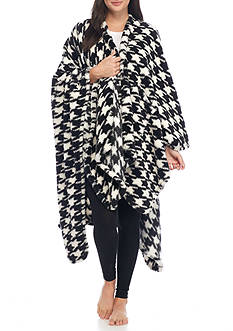 PJ Couture Houndstooth Reader Wrap